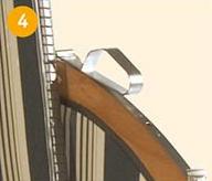 klassische Lochverstellung, Beschläge aus Edelstahl
