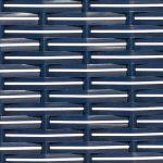 Geflecht blau mit weißen Nadelstreifen