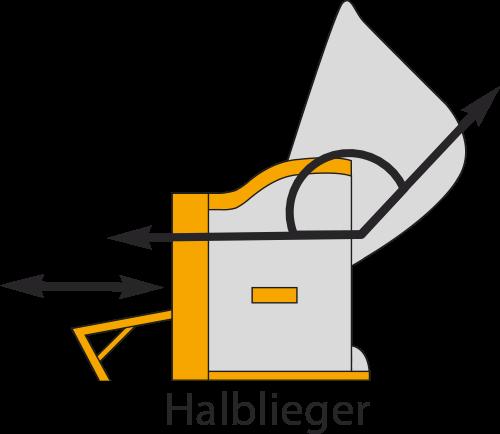 Grafik eines Strandkorb-Halbliegemodells