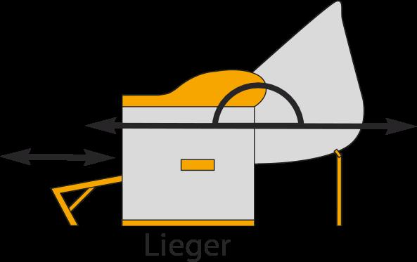 Grafik eines Strandkorb-Liegemodells
