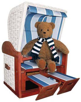 Teddybär in Strandkorb